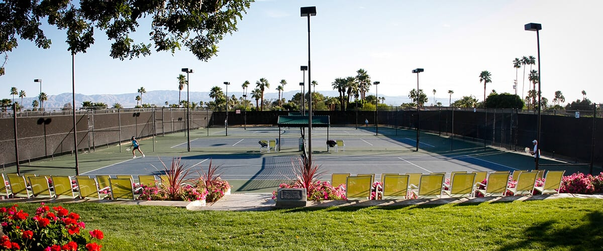 view of all tennis courts